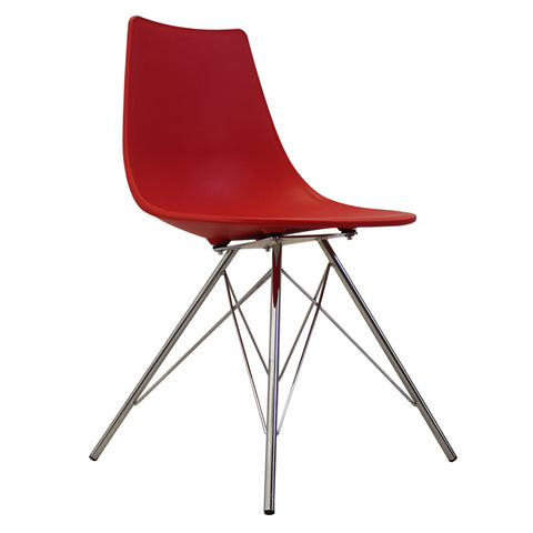 CHARLES EAMES Style Red Plastic N-DSR Side Chair - directhomeliving