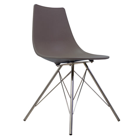 CHARLES EAMES Style Slate Plastic N-DSR Side Chair - directhomeliving