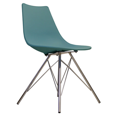 CHARLES EAMES Style Teal Plastic N-DSR Side Chair - directhomeliving