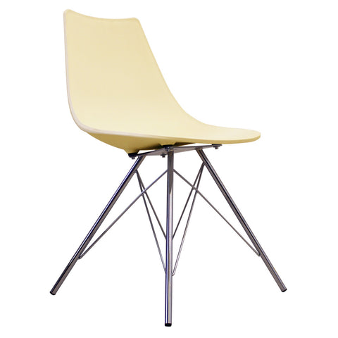 CHARLES EAMES Style Vanilla Plastic N-DSR Side Chair - directhomeliving