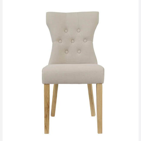 Naples Beige Dining Chair (Pack of 2) - directhomeliving