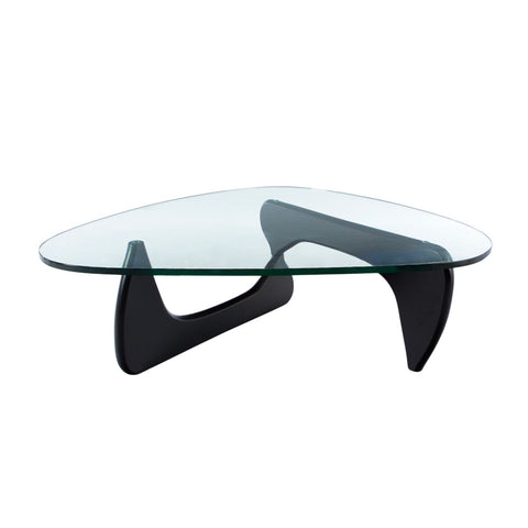 Noguchi Glass Top Black Coffee Table - directhomeliving