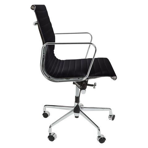 Eames Style EA117 Low Back Black Leather Office Chair - directhomeliving