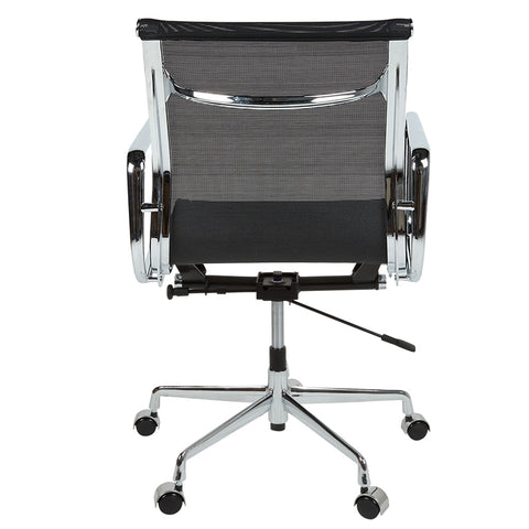 Eames Style EA117 Low Back Black Mesh Office Chair - directhomeliving
