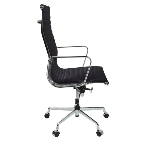 Eames Style EA119 High Back Black Leather Office Chair - directhomeliving