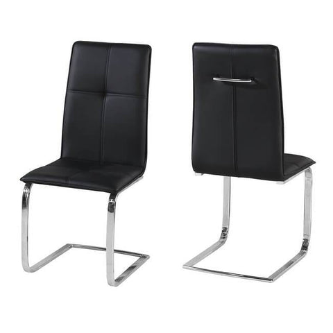 Opus Black Chair (Pack of 2) - directhomeliving