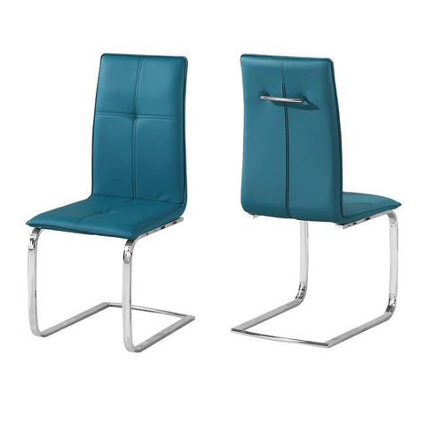 Opus Teal Chair (Pack of 2) - directhomeliving