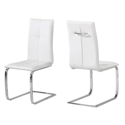 Opus White Chair (Pack of 2) - directhomeliving