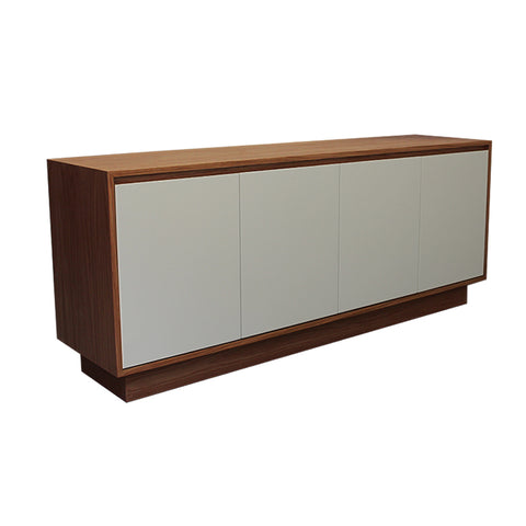 Oxford Grey Door Walnut Sideboard - directhomeliving