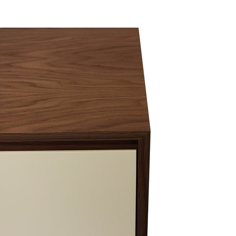 Oxford Vanilla Door Walnut Sideboard - directhomeliving
