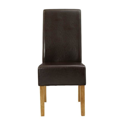 Padstow Brown Chair ( Pack of 2) - directhomeliving