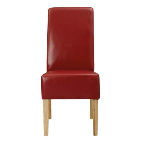 Padstow Red Chair ( Pack of 2) - directhomeliving
