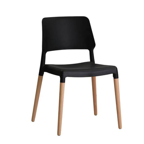 Riva Black Chair (Pack of 2) - directhomeliving