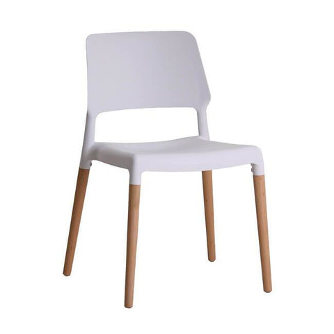 Riva White Chair (Pack of 2) - directhomeliving