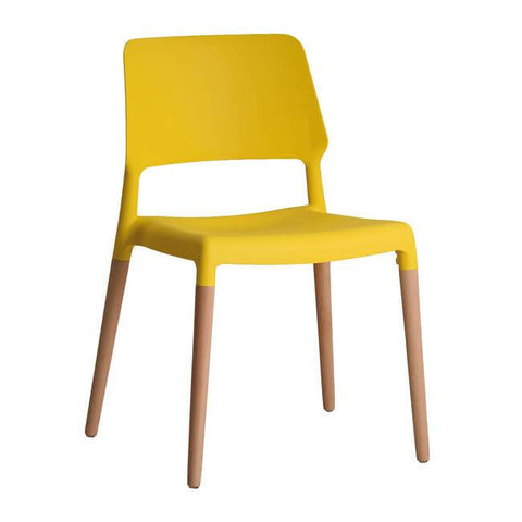 Riva Yellow Chair (Pack of 2) - directhomeliving