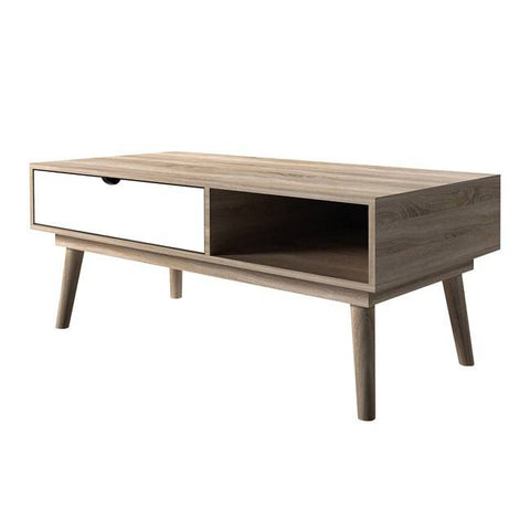 Scandi White Coffee Table - directhomeliving