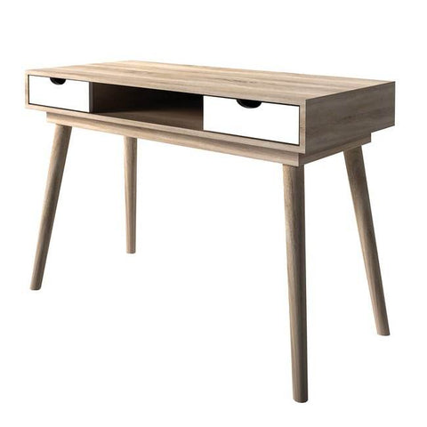 Scandi White Computer Desk - directhomeliving