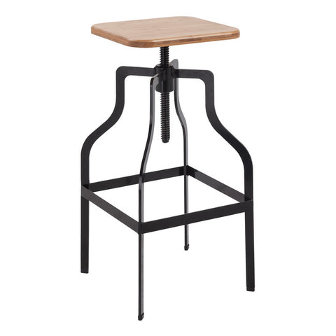 Shoreditch Square Black Bar Stool - directhomeliving