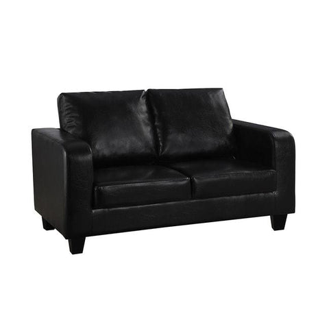 Black Faux-Leather Sofa in a Box - directhomeliving