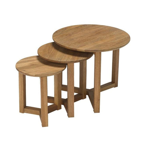 Stow Wood Nest of 3 Tables - directhomeliving
