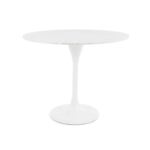 Tulip 90cm Marble Dining Table - directhomeliving
