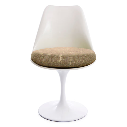 Tulip Woven Beige Seat Chair - directhomeliving