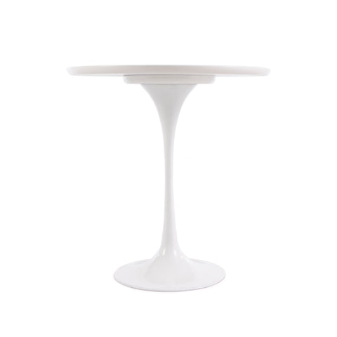 Tulip 50cm White Side Table - directhomeliving