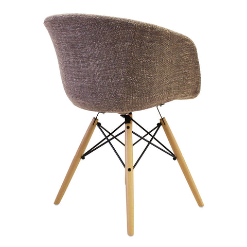 Vogue Style Beige Fabric DAW Armchair - directhomeliving