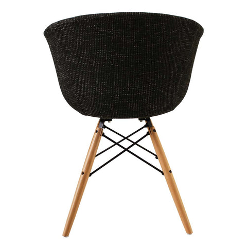Vogue Style Black Fabric DAW Armchair - directhomeliving
