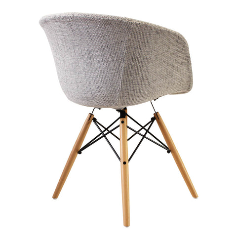 Vogue Style Grey Fabric DAW Armchair - directhomeliving