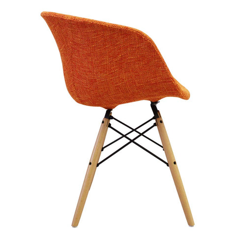 Vogue Style Orange Fabric DAW Armchair - directhomeliving