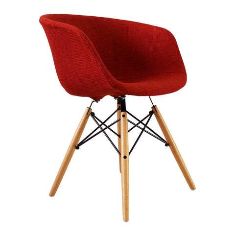 Vogue Style Red Fabric DAW Armchair - directhomeliving