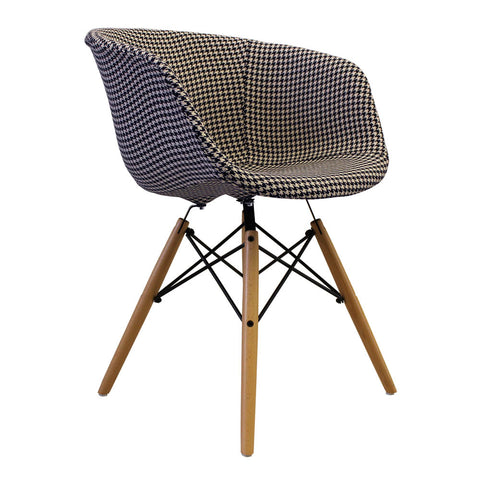 Vogue Style Houndstooth Fabric DAW Armchair - directhomeliving