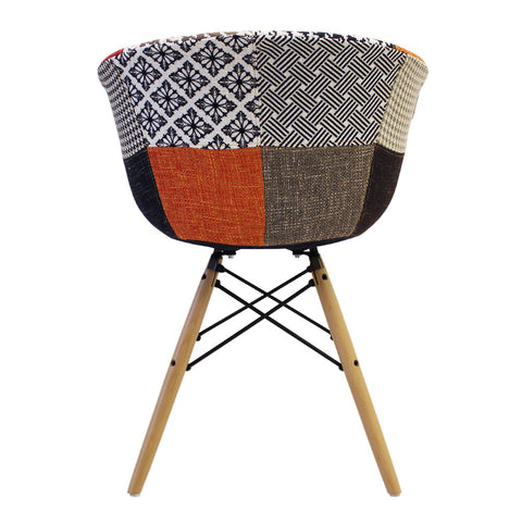 Vogue Style Patchwork Fabric DAW Armchair - directhomeliving