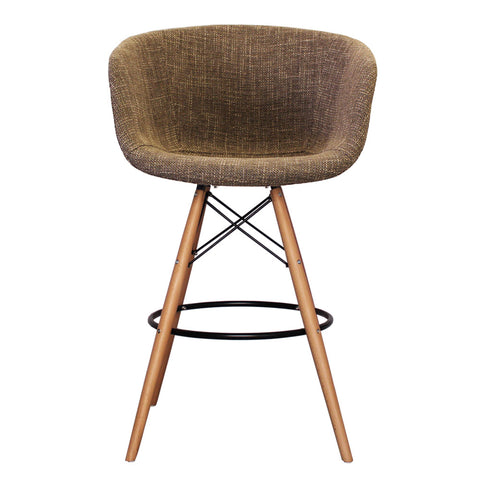 Vogue Style Tall Beige Fabric DAB Bar Stool - directhomeliving
