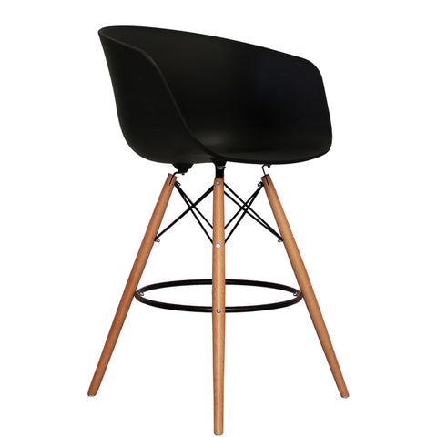 Vogue Style Tall Black Plastic DAB Bar Stool