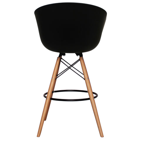 Vogue Style Tall Black Plastic DAB Bar Stool - directhomeliving