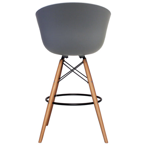 Vogue Style Tall Cool Grey Plastic DAB Bar Stool - directhomeliving