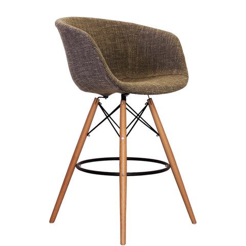 Vogue Style Tall Beige Fabric DAB Bar Stool