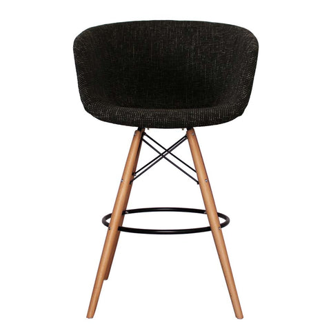 Vogue Style Tall Black Fabric DAB Bar Stool - directhomeliving