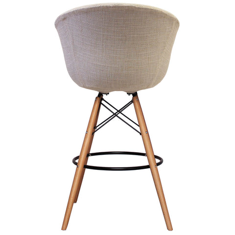 Vogue Style Tall Cream Fabric DAB Bar Stool - directhomeliving