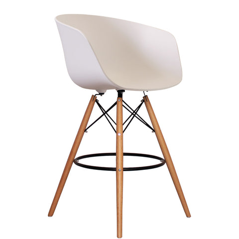 Vogue Style Tall White Plastic DAB Bar Stool
