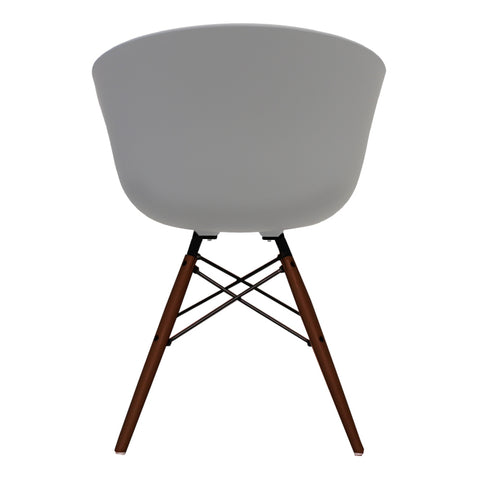 Vogue Style Light Grey Plastic DAW Walnut Armchair - directhomeliving