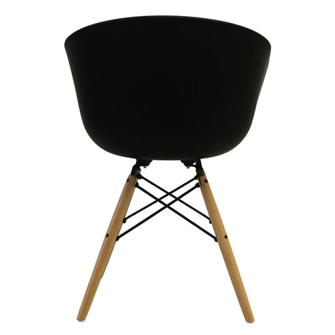 Vogue Style Black Plastic DAW Armchair - directhomeliving