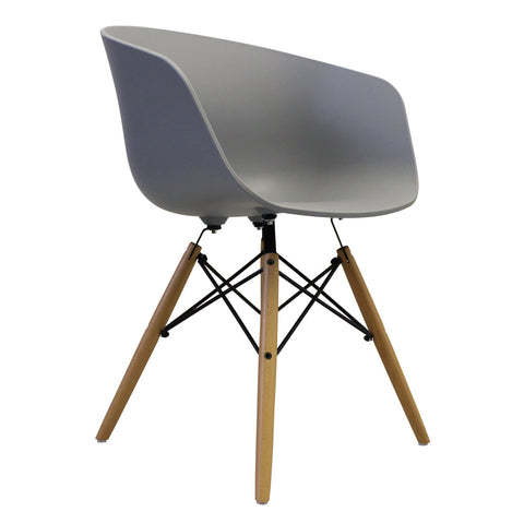 Vogue Style Cool Grey Plastic DAW Armchair - directhomeliving