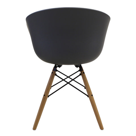 Vogue Style Dark Grey Plastic DAW Armchair - directhomeliving