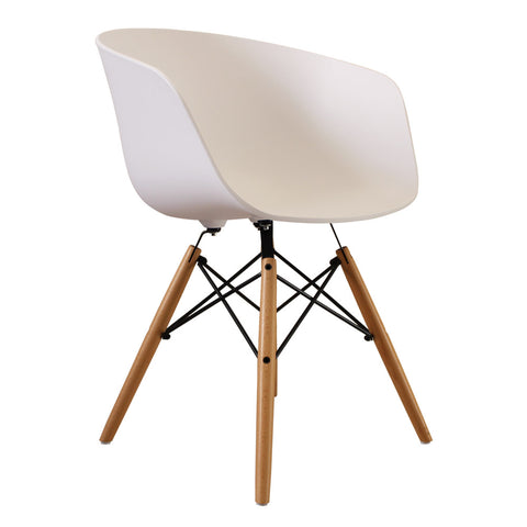 Vogue Style White Plastic DAW Armchair - directhomeliving