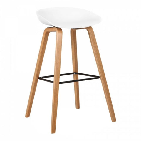 Vogue Hay Low Back White Bar Stool - directhomeliving