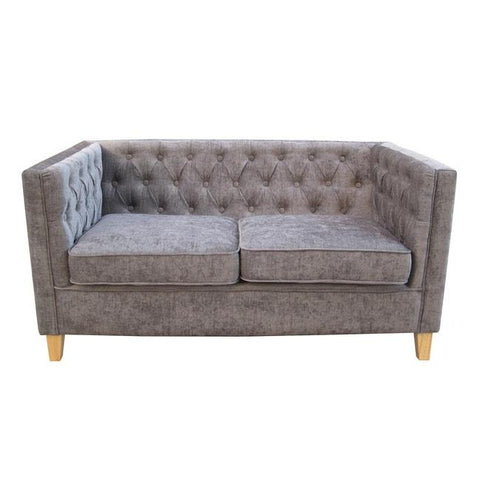 York 2 Seater Grey Sofa - directhomeliving