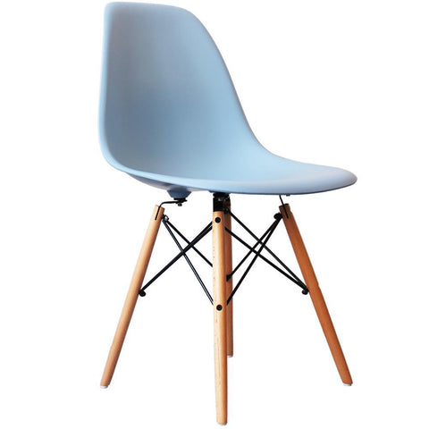 CHARLES EAMES Style Blue Plastic Retro DSW Side Chair - directhomeliving